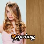 DELUXE clip in vlasy 51 cm, 200 g - melír přírodní světlejší blond #18/22