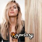 DELUXE clip in vlasy 51 cm, 200 g - melír popelavě-beach blond #60/16