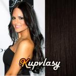 DELUXE clip in vlasy 61 cm, 240 g - přírodní černá #1b