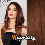 DELUXE clip in vlasy 61 cm, 240 g - světlejší hnědá #6