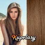 DELUXE clip in vlasy 61 cm, 240 g - nejsvětlejší hnědá #12