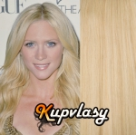 DELUXE clip in vlasy 61 cm, 240 g - beach blond #613