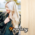 DELUXE clip in vlasy 61 cm, 240 g - platinová blond #60