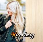 DELUXE clip in vlasy 61 cm, 240 g - platinová blond #60