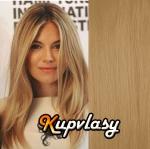 DELUXE clip in vlasy 61 cm, 240 g - melír přírodní světlejší blond #18/22