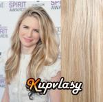 DELUXE clip in vlasy 61 cm, 240 g - melír popelavě-beach blond #60/16