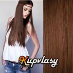 DELUXE clip in vlasy 71 cm, 280 g - světlejší hnědá #6