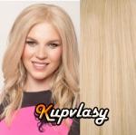 DELUXE clip in vlnité vlasy 51 cm, 200 g - beach blond #613