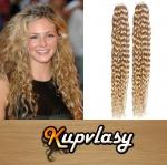 Kudrnaté Tape in vlasy k prodloužení 50cm - přírodní blond #22