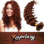 Kudrnaté vlasy na metodu keratin 50cm 0,7g - měděná #350