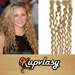 Kudrnaté vlasy na Micro Ring 50cm 0,5g - přírodní blond #22