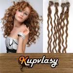 Kudrnaté vlasy na Micro Ring 50cm 0,7g - nejsvětlejší hnědá #12