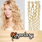Kudrnaté vlasy na Micro Ring 60cm 0,7g - beach blond #613