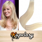 Rovné Tape in vlasy k prodloužení 40cm - beach blond #613