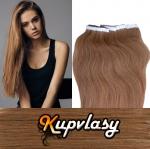 Rovné Tape in vlasy k prodloužení 50cm - nejsvětlejší hnědá #12