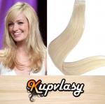 Rovné Tape in vlasy k prodloužení 50cm - beach blond #613