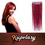 Rovné Tape in vlasy k prodloužení 60cm - měděná #350