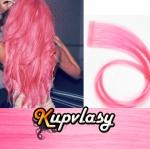 Rovné Tape in vlasy k prodloužení 60cm - růžová #pink
