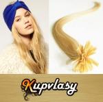 Rovné vlasy na metodu keratin 40cm 0,5g - přírodní blond #22