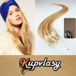 Rovné vlasy na Micro Ring 40cm 0,7g - přírodní blond #22