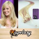 Rovné vlasy na Micro Ring 60cm 0,5g - beach blond #613