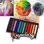 Super barevné křídy na vlasy - 12 kusů