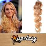 Vlnité vlasy na Micro Ring 50cm 0,7g - přírodní blond #22