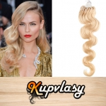 Vlnité vlasy na Micro Ring 50cm 0,7g - beach blond #613