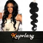 Vlnité vlasy na Micro Ring 60cm 0,5g - uhlově černá #1
