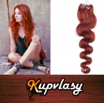 Vlnité vlasy na Micro Ring 60cm 0,5g - měděná #350