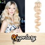 Vlnité vlasy na Micro Ring 60cm 0,7g - platinová blond #60